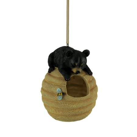 Oh Honey Black Bear On Beehive Hanging Bird
