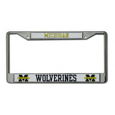 NCAA - Michigan Wolverines Chrome License Plate Frame