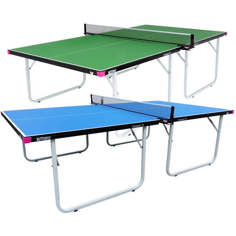 Exceptional Butterfly Compact 19 Table Tennis Table, Blue