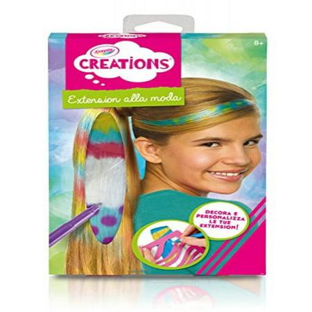crayola color and clip hair extensions walmart com