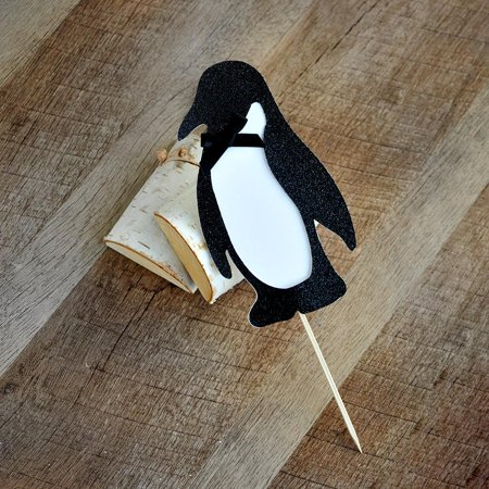 Penguin Cake Topper. Winter Wonderland Birthday Party. - Winter Wonderland 1st Birthday Ideas