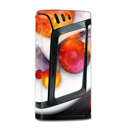Skins Decals For Smok Alien 220W Tc W Grip Guard   Amazing Orange Bubbles