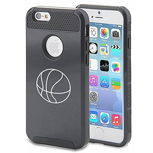 Apple iPhone 5 5s Shockproof Impact Hard Case Cover Basketball (Black),MIP