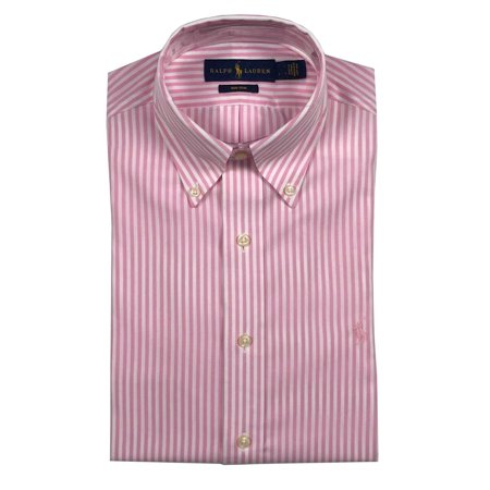 f7f8423817 Ralph Lauren Polo - Ralph Lauren Polo Mens Button Down Non Iron Striped  Dress Shirt Blue/Pink New (Pink/White,16,32/33) - Walmart.com