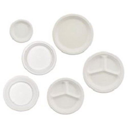 Huhtamaki HUH VESTRY 3-Comparents Paper Plate 10.25 in. White - 500-Case - image 1 of 1