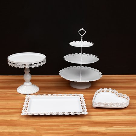 Gold White Cake Stand Cupcake Stands Metal 3 Tier Dessert Display Tower Wedding Cake Stand Dessert Cake Holder Pan for Party