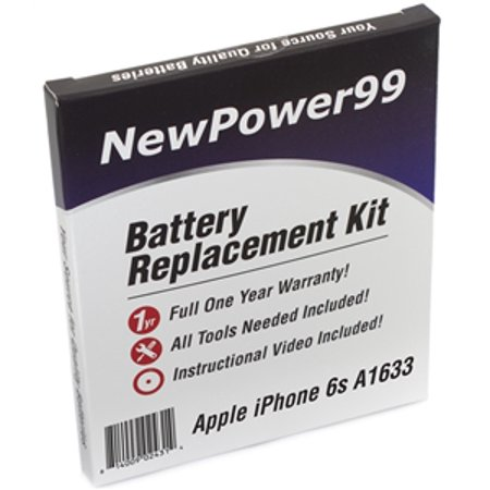 Apple iPhone 6s A1633 Battery Replacement Kit with Tools, Video Instructions, Extended Life Battery and Full One Year - Extend Iphone Battery