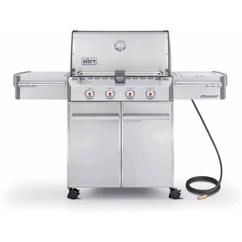 weber summit s420 natural gas grill stainless steel - Natural Gas Grill