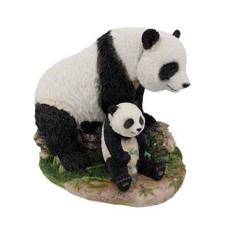 Panda Bear Statue (Mother And Child Panda Bear Statue Baby Animal )