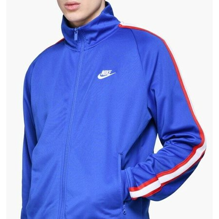 Nike N98 Tribute Loose Fit Royal Blue/White Men's Track Jacket Size L