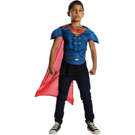Superman Man Of Steel Muscle Chest Costume Top Child](Superman Chest Plate)