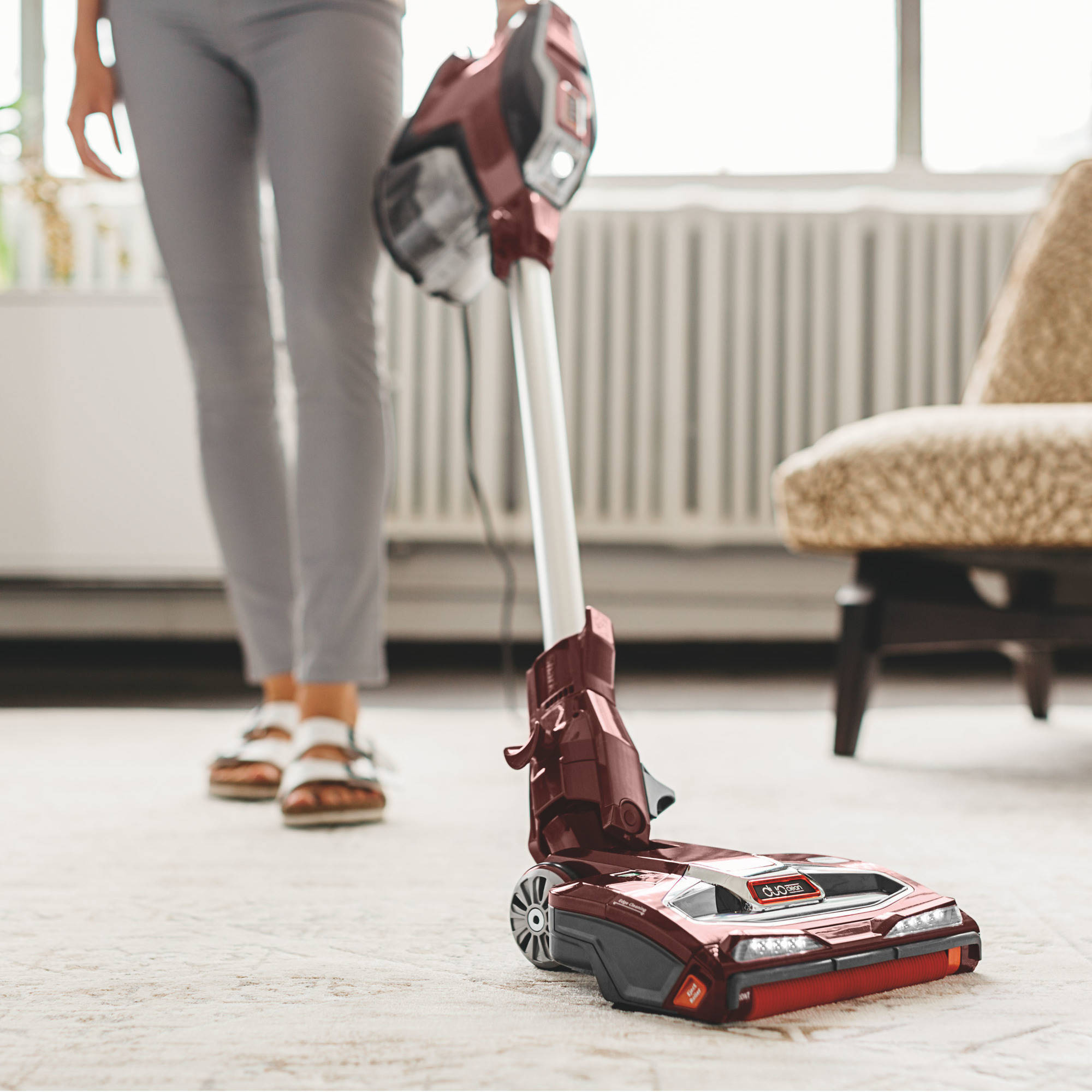 Shark Rocket Complete Corded Vacuum With Duoclean Red Hv380