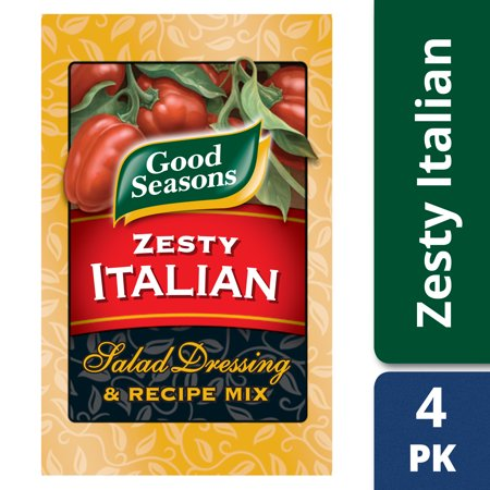 (2 Pack) Good Seasons Zesty Italian Salad Dressing & Recipe Mix, 4 - 0.6 Oz (Carrot Salad Dressing)