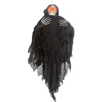 4' Hanging Light-up Black Reaper Halloween Decoration