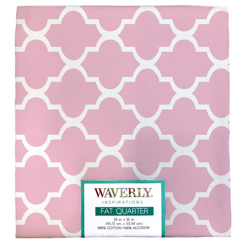 "Waverly Inspiration Fat Quarter 100% Cotton, Twist Print Fabric, Quilting Fabric, Craft fabric, 18"" by 21"", 140 GSM"