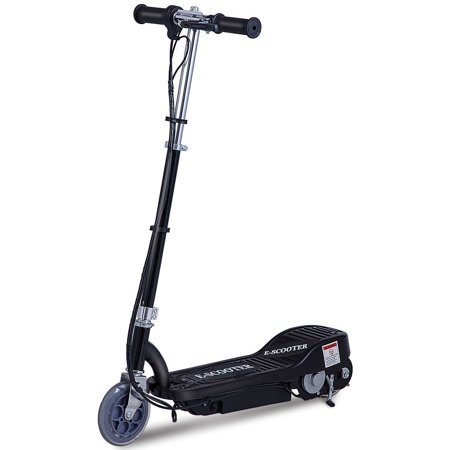 Gymax Rechargeable Electric Scooter 24 Volt Motorized Ride On Outdoor For Teens Black