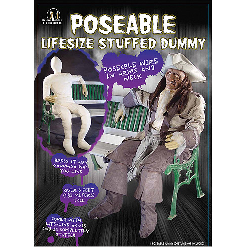 Dummy Poseable With Arm And Hands Halloween Prop