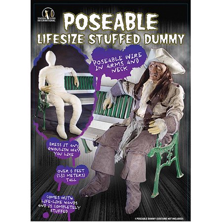 Dummy Poseable With Arm And Hands Halloween Prop - Test Dummy Costume