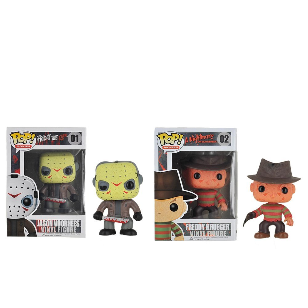 Funko POP Movies: Friday the 13th Jason Voorhhes & Freddy Krueger Action Figure Bundle (2 items), Funko POP Movies: Friday the 13th Jason Voorhhes & Freddy.., By Fusion Apparel