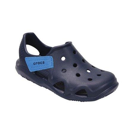 d761e7d8e97565 Crocs - Crocs Swiftwater Wave K Round Toe Synthetic Clogs - Walmart.com