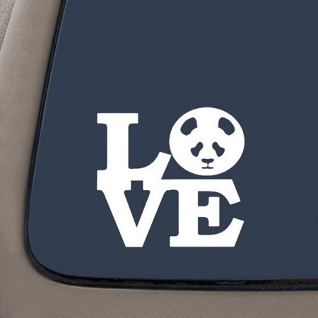 Panda love decal white vinyl decal 5 5 x 5 2 car truck