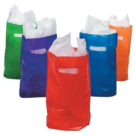Treat / Goody Plastic Bags ~ Party Favor (Package of 50) (Assorted Colors)