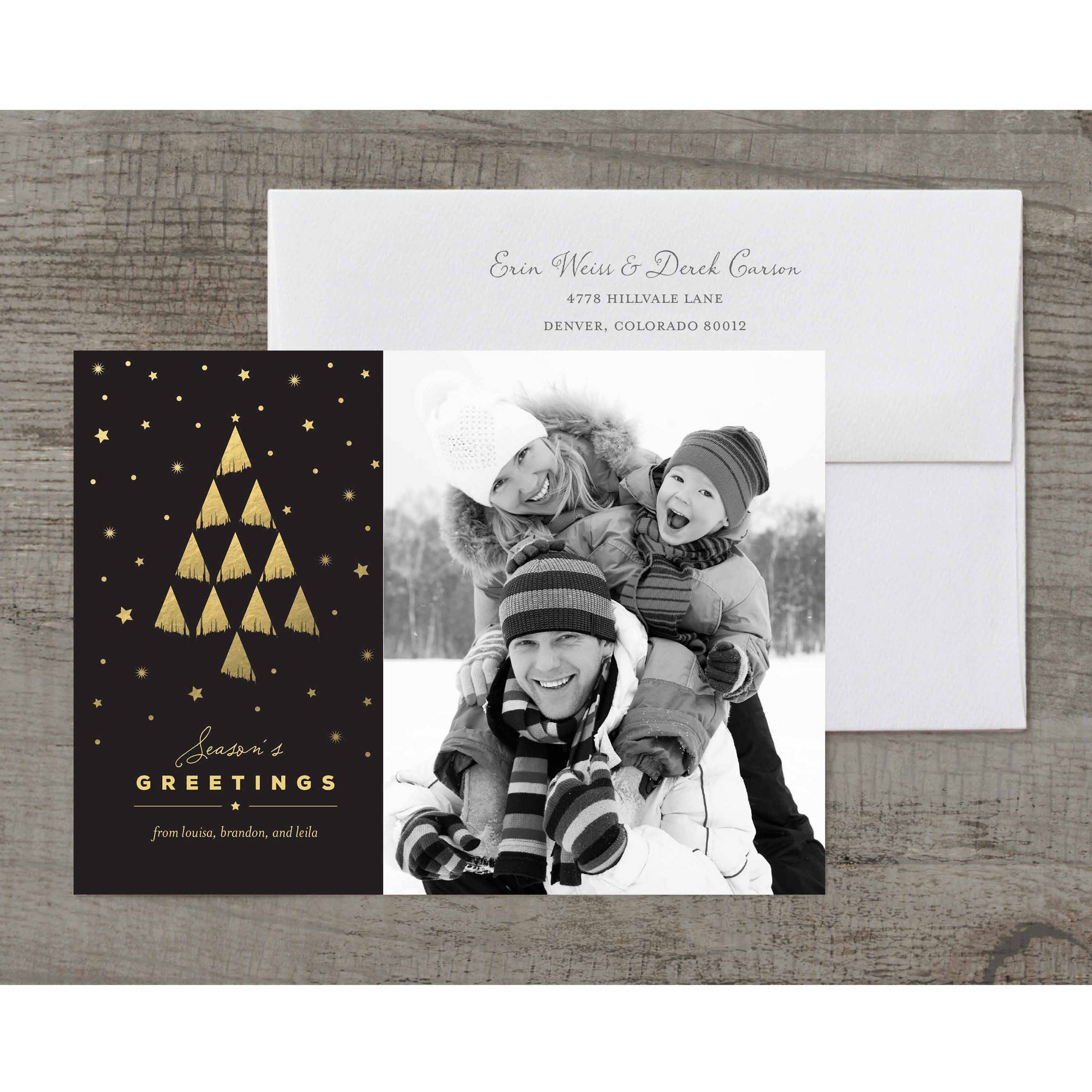Gilded Tree Deluxe Holiday Card Walmart