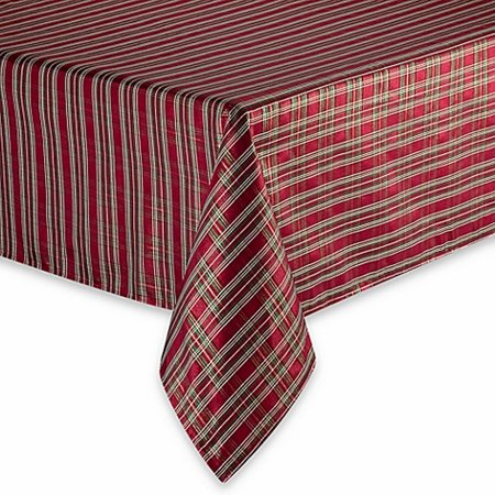 Winter Wonderland Shimmering Christmas Plaid Fabric Tablecloth Table Cloth 70 Rnd](Winter Wonderland Office Decorating Ideas)