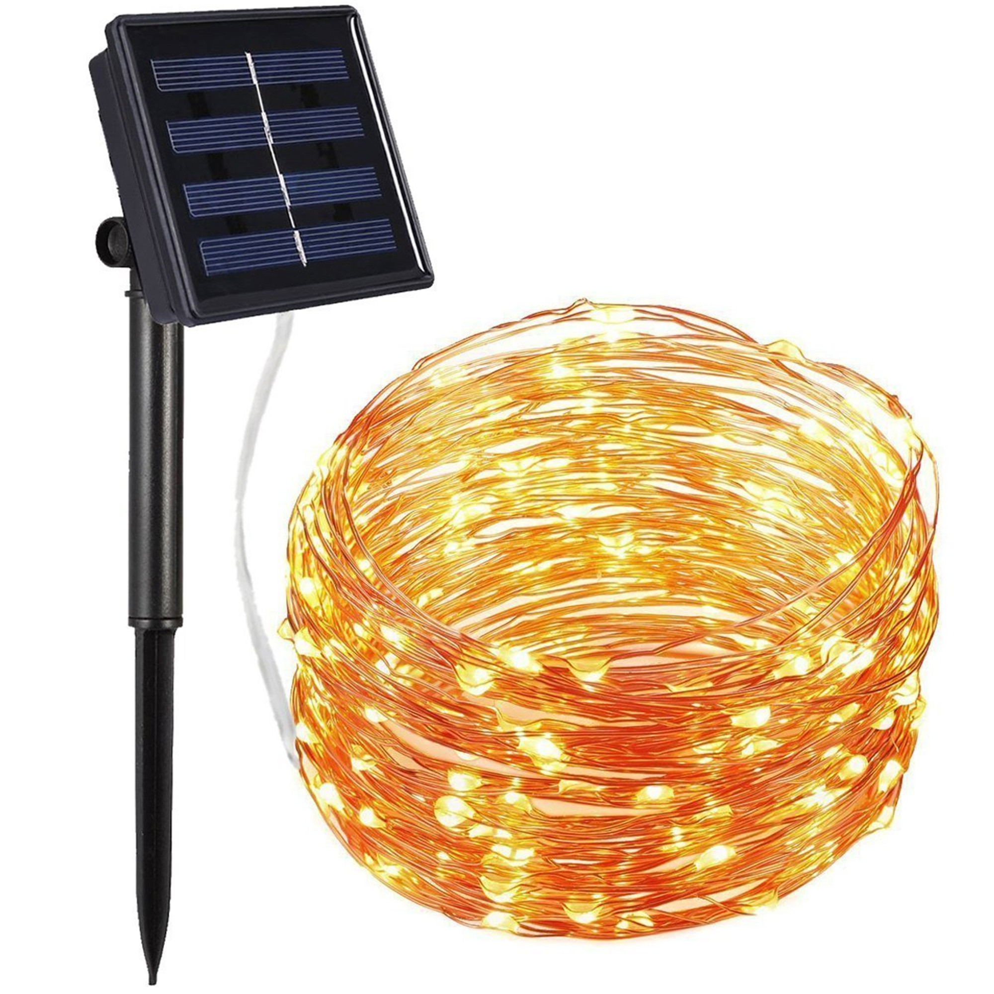 Solar String Lights, Copper Wire Lights, 72ft 200 LED 8 Modes Starry String Lights for Christmas, Garden, Patio, Wedding, Party, Dancing