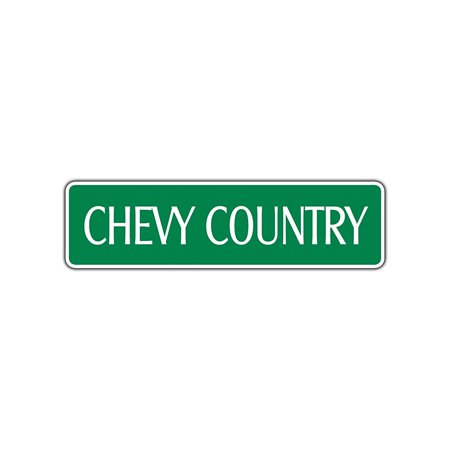 Chevy Country Aluminum Street Sign Chevrolet Garage Car SUV Truck Man Cave 4