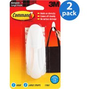 2 Pack Command Designer Hook White Large 1