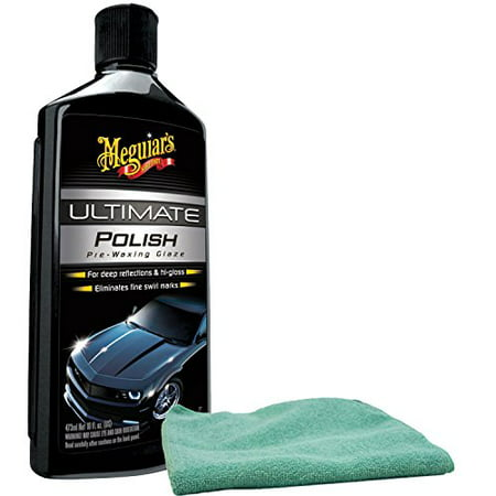 Micro Polish Kit (Meguiars Ultimate Polish Pre-Wax Glaze & Microfiber Cloth)
