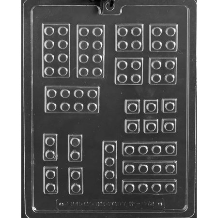 - Grandmama's Goodies K172 Assorted Building Blocks Chocolate Candy Soap Mold with Exclusive Molding Instructions