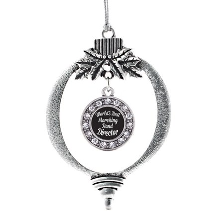 World's Best Marching Band Director Circle Holiday (Director Ornament)