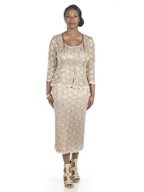 a7df553bf4a Free shipping. Product Image RM Richards Women Sequin Lace Swing Jacket  Dress