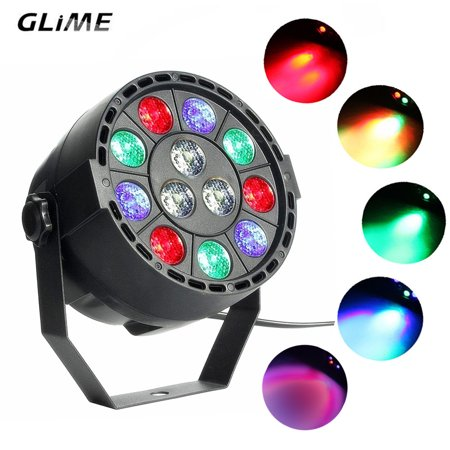 Self Contained Strobe - LED Stage Light. GLIME 12W DMX-512 RGBW Voice / Self-strobe Mode Stage Light Par Light Stage Light