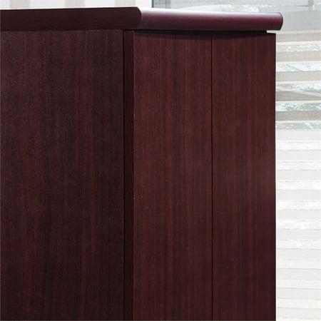 Hodedah 2 Door Armoire with 4 Shelves in Mahogany - image 2 de 6