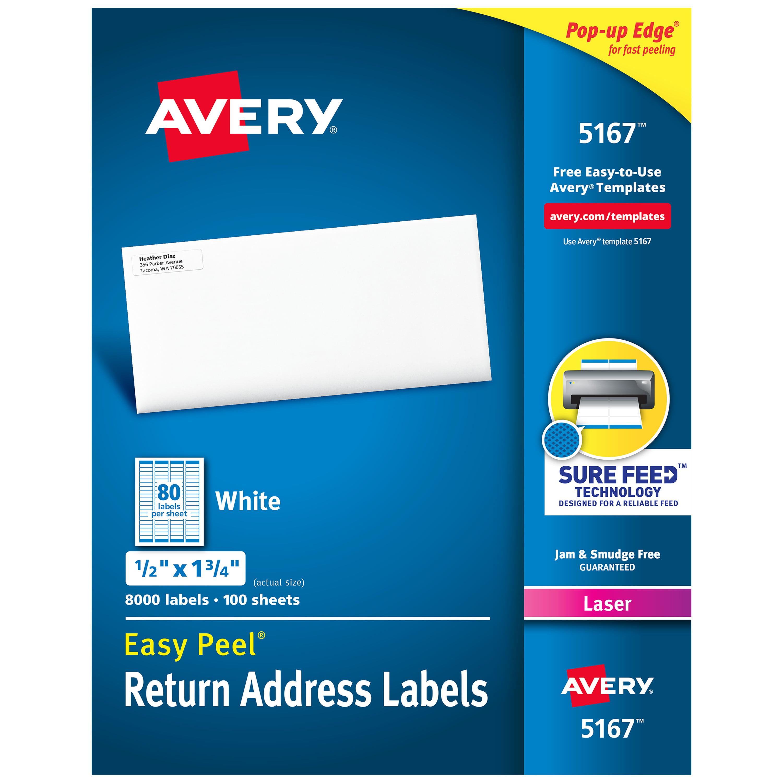 Avery Easy L Return Address Labels