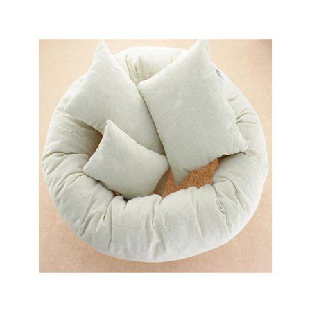 4Pcs/Set Toddler Baby Newborn Decorative Pillow Basket Filler Wheat Donut Photography Props