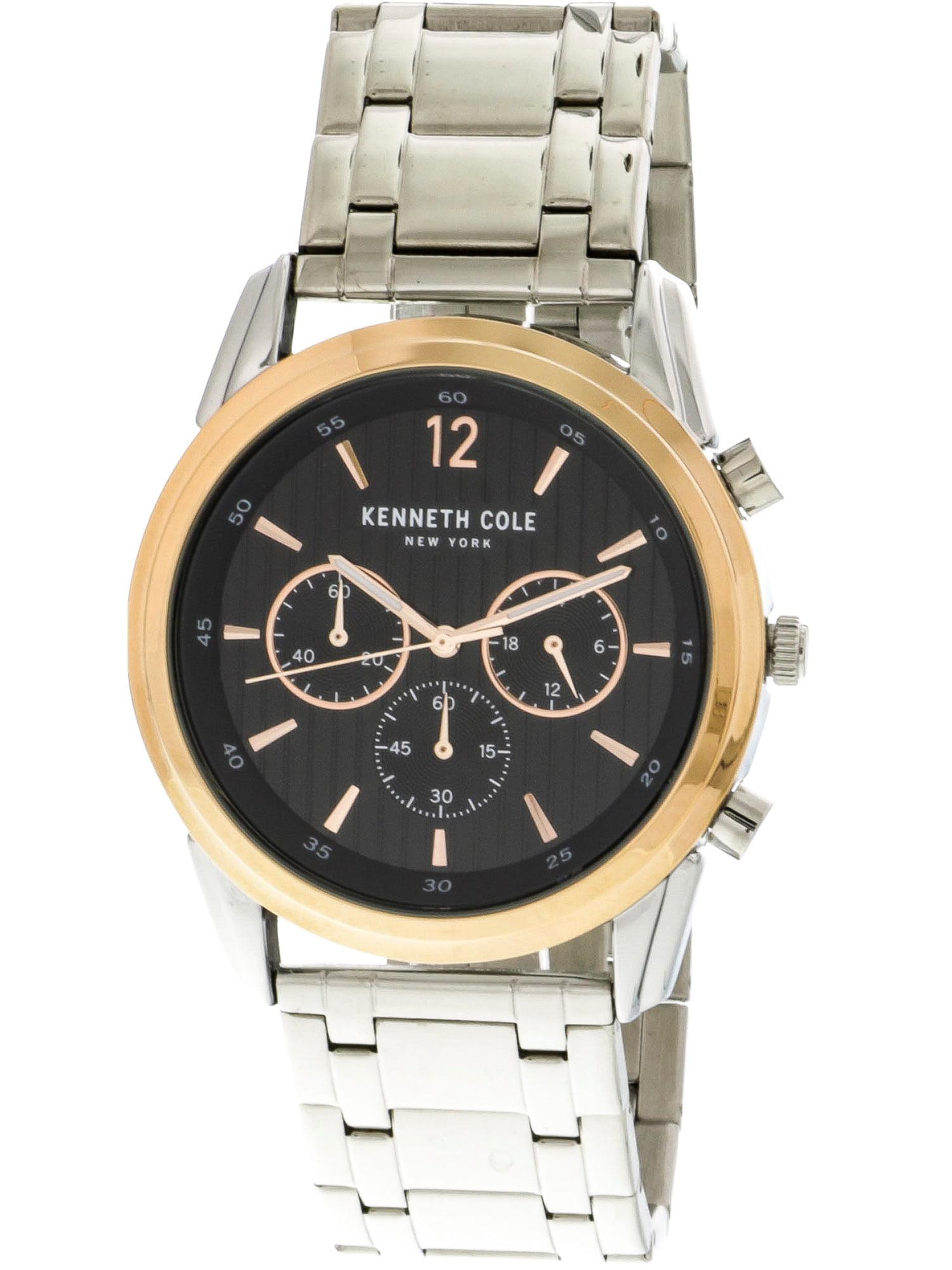 Men's KC50229005 Silver Stainless-Steel Japanese Quartz Fashion Watch