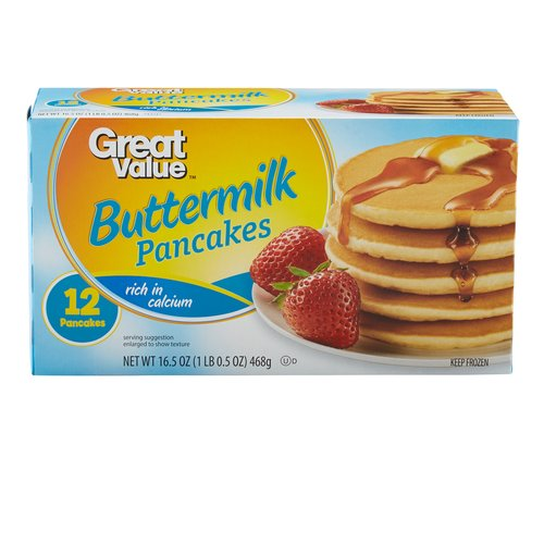 Great Value: Buttermilk Pancakes, 16.5 Oz