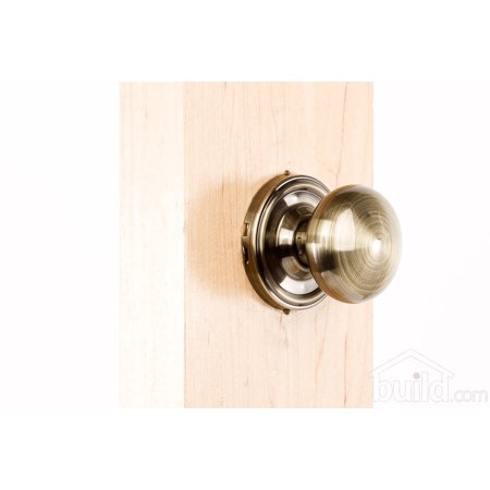 Weslock 605I Impresa Single Dummy Door Knob with Round Rose from the Elegance Collection