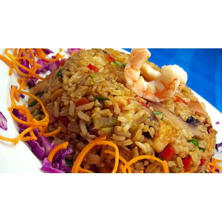 Canvas Print Rice Restaurant Gourmet Shrimp Asia Japanese Stretched Canvas 10 x (Best Coconut Shrimp Restaurant)