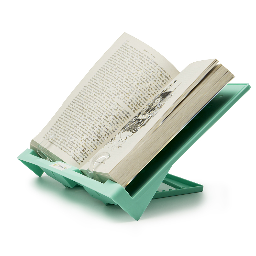 Work4U 180 angle adjustable and Portable Reading Stand/Book stand Document Holder, Green