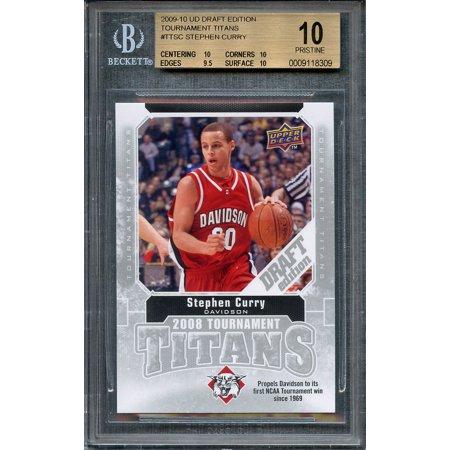 2009 10 Ud Draft Edition Tt Ttsc Stephen Curry Rookie Card Pristine Bgs 10