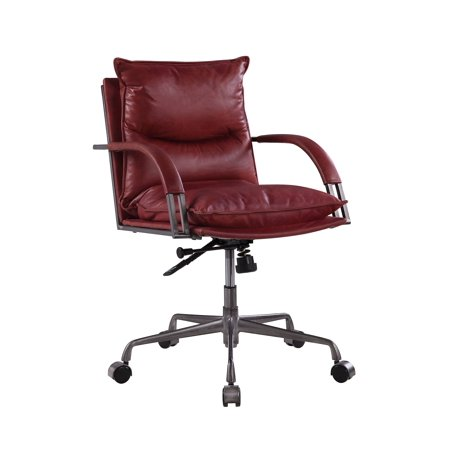 Haggar Executive Office Chair in Vintage Red Top Grain Leather