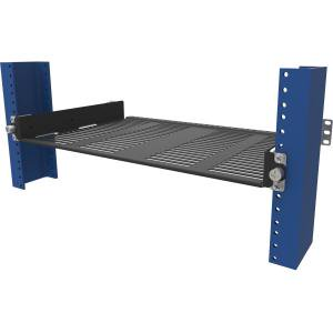 - 2POST SLIDING HALF SHELF 30LB WEIGHT CAPACITY