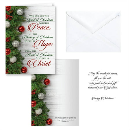 Peace, Hope, Christ Christmas Card Set of 20 ()