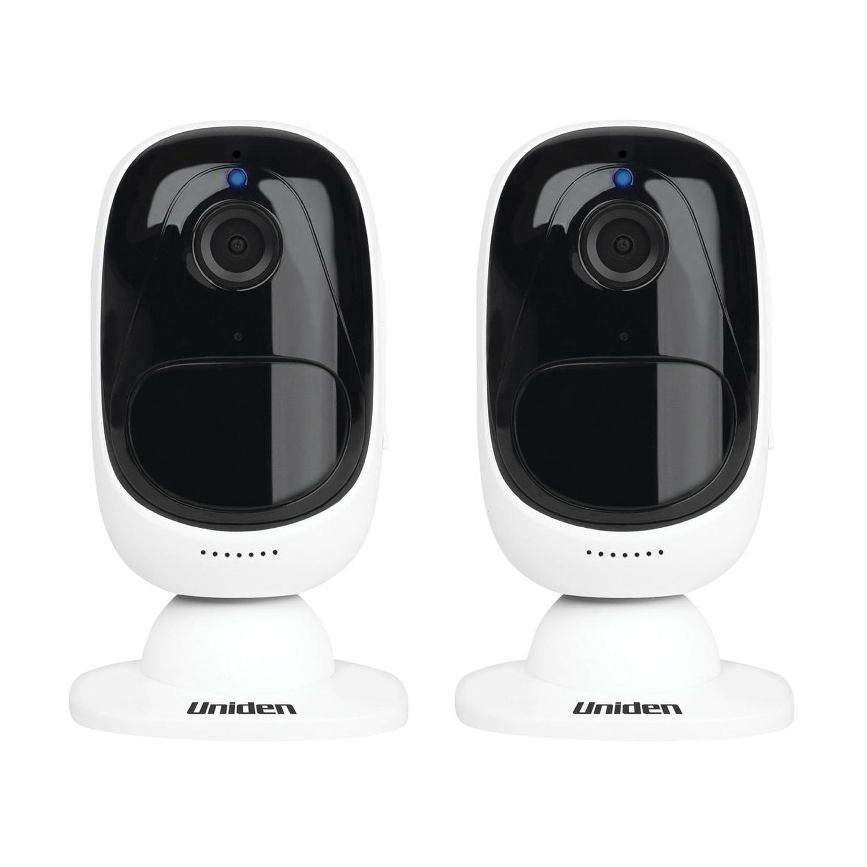Uniden Indoor Outdoor Wifi Wireless Home Security Surveillance Camera (2 Pack)
