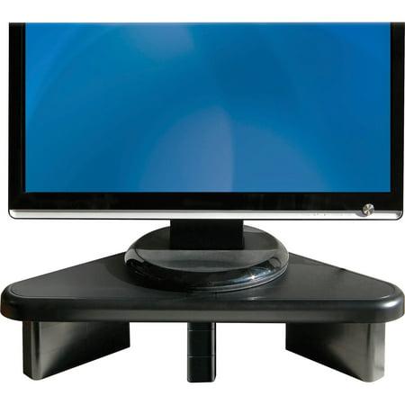 DAC, DTA02184, Stax Ergonomic Height Adjustable Corner Monitor Riser, 1 Each, Black